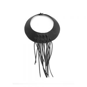 Long fringe choker